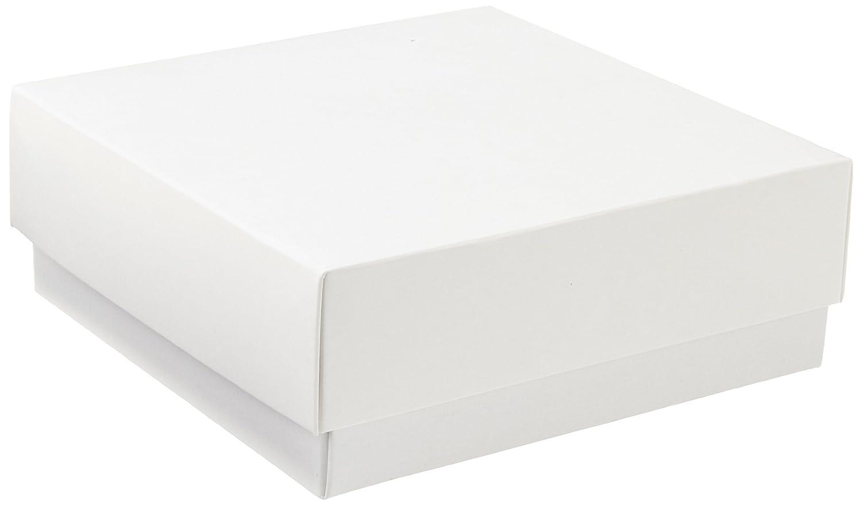 neolab 2 –  2900 kryo scatola con coperchio, in cartone, altezza 50 mm, bianco altezza 50mm 2-2900