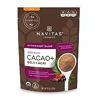 Navitas Organics Cacao+ Blend: Antioxidant (Cacao + Acai + Goji), 8oz. Bag, 15 Servings — Organic, Non-GMO, Gluten-Free
