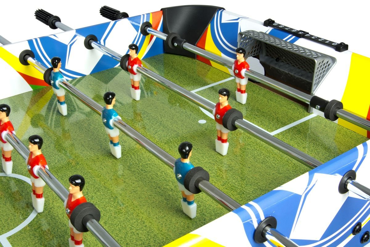 8d4d76f2272dc5 Leomark Fun Football Table de babyfoot Jeu de Football, Baby-Foot, Baby  Foot Table En Bois ...