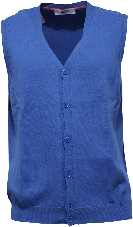 MQJ 9693AA Gilet uomo Cotton Blue Sleeveless Sweater Men