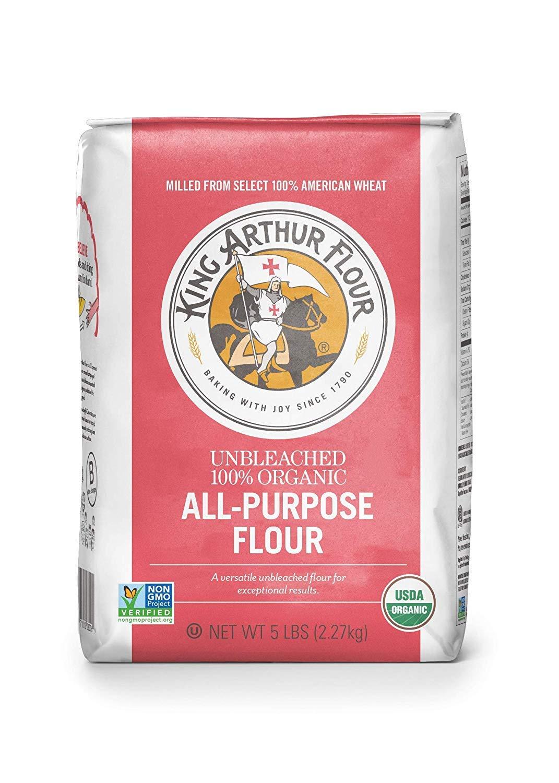 Flour 100% Organic Unbleached All-Purpose Flour, 5 Pound (Pack of 6)