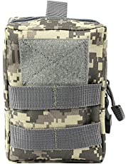 AIRSSON Tactical Pouch Molle EDC Bag Compact Water- Resistant Utility Gadget Hanging Waist Saddlebag for Outdoor Sports