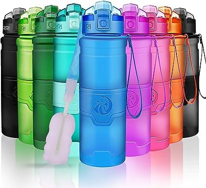 Sports Bouteille d/'eau étanche en plastique Fitness Running Gym Gourde UK