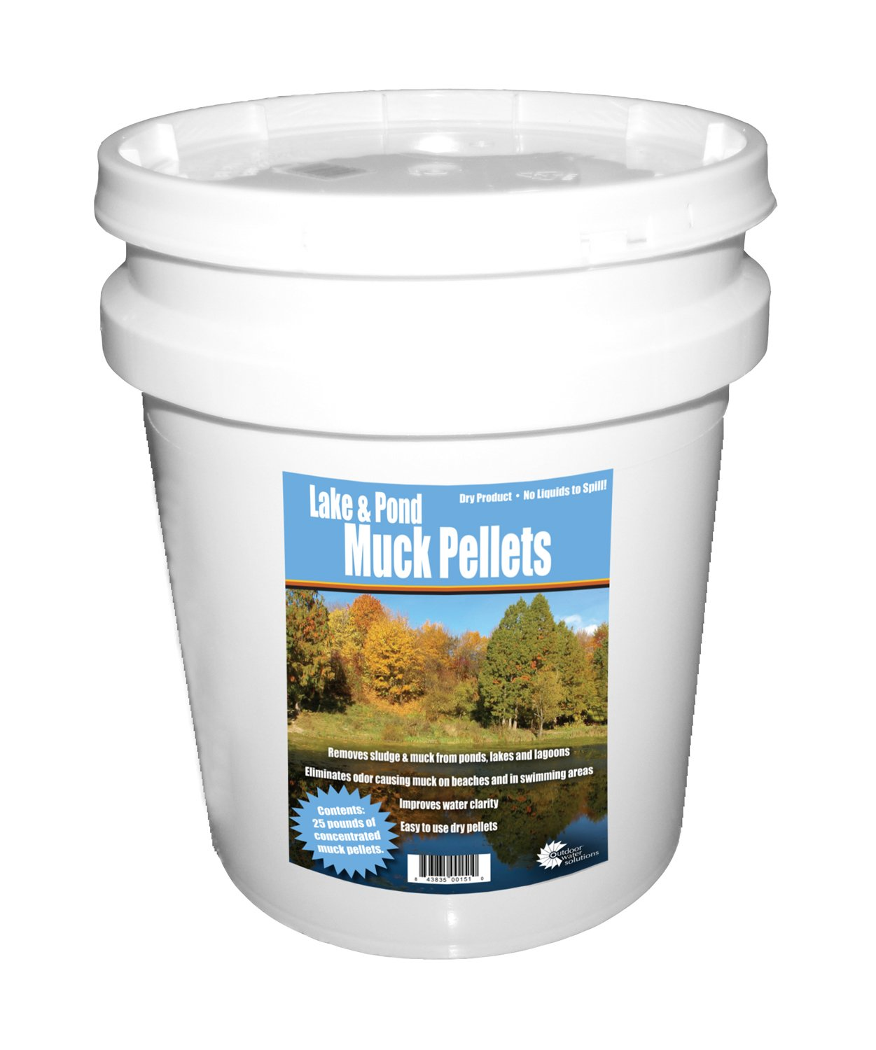 Outdoor Water Solutions Lake and Pond Muck Pellet 25 LBS.