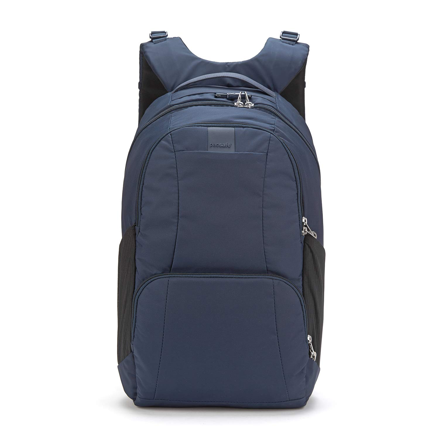 Pacsafe Metrosafe LS450 25 Liter Anti Theft Laptop Backpack - with Padded 15'' Laptop Sleeve, Adjustable Shoulder Straps, Patented Security Technology (Deep Navy) by Pacsafe (Image #1)