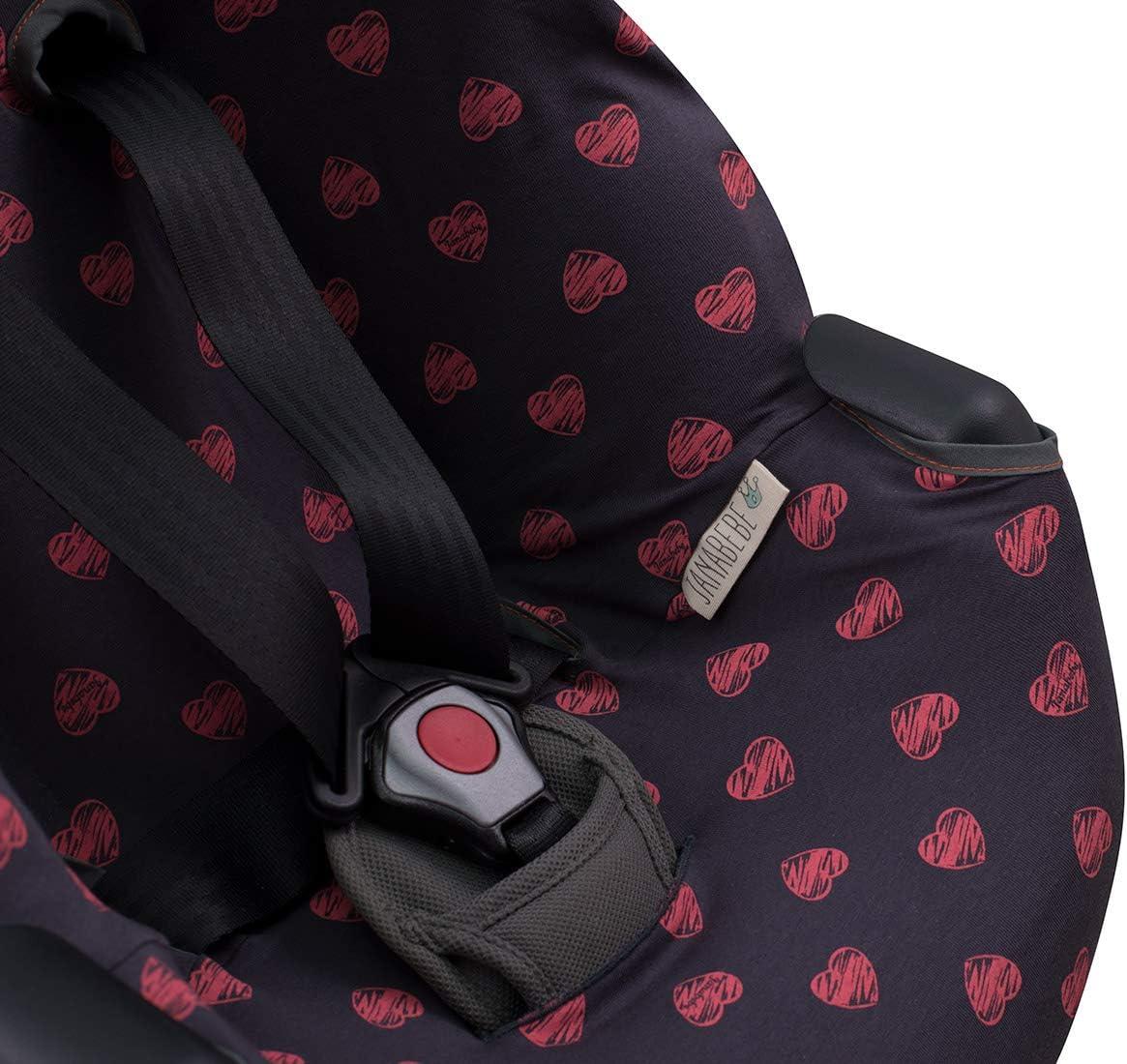 Nuna REBL Janabebe Car seat Cover Liner Joie Spin 360 Fluor Heart