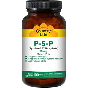 Country Life - P-5-P (Pyridoxal Phosphate) 50 mg - 100 Tablets