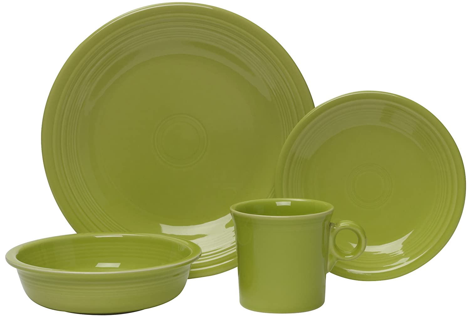 Amazon.com | Fiesta 4-Piece Dinnerware Place Setting, Turquoise ...