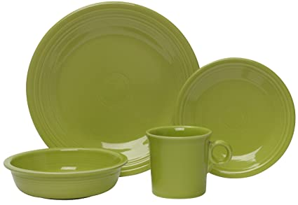 Fiesta 4-Piece Place Setting Lemongrass  sc 1 st  Amazon.com & Amazon.com | Fiesta 4-Piece Place Setting Lemongrass: Dinnerware ...