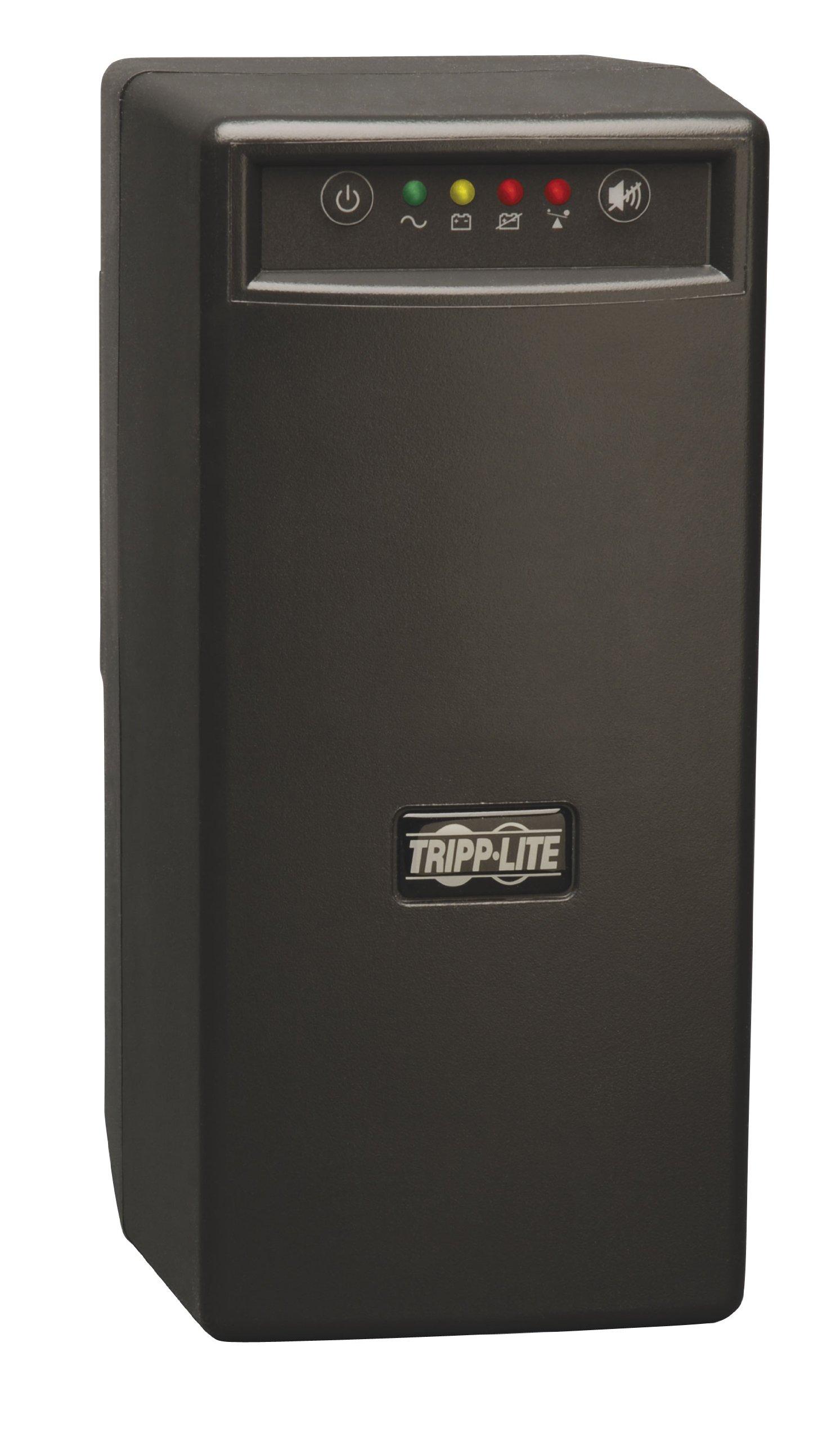 Tripp Lite BC600SINE 600VA 375W UPS Battery Back Up Pure Sine Wave PFC Tower 120V USB, 6 Outlets