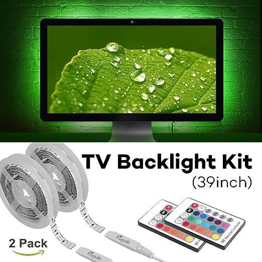 Megulla - Kit de iluminación para televisor (USB, LED, RGB, con Mando a Distancia, para TV, PC, Home Theater y Monitor de Escritorio): Amazon.es: Jardín