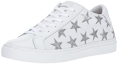 8b94bf839fc7 Skecher Street Women's Street-Star Side Fashion Sneaker,White/Silver,8 M