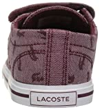 Lacoste Baby Riberac Sneaker, Red Canvas