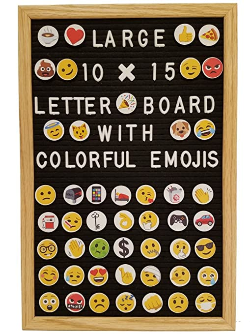 Amazon Letter Board Changeable Black Felt 10x15 Solid Oak