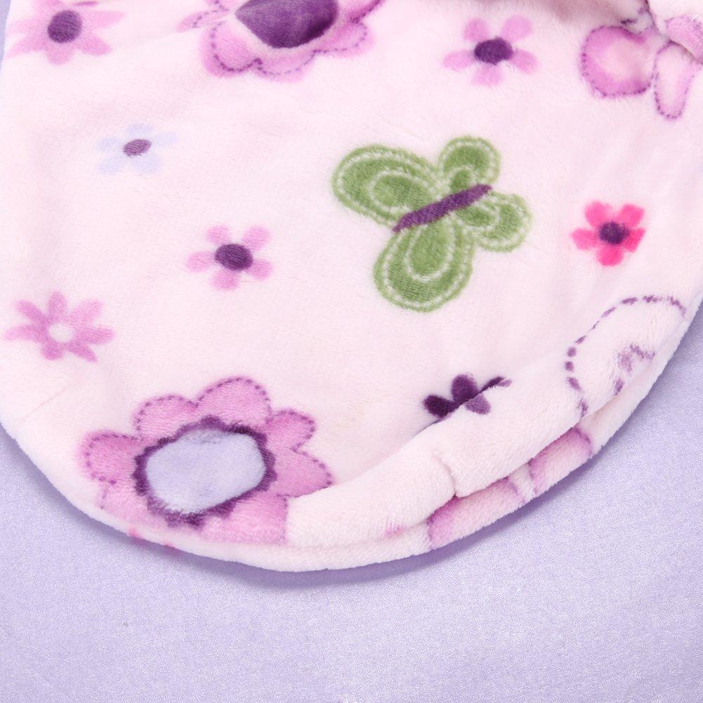 Domybest Blueberry Shop doux Peluche courte Couverture demmaillotage Sac de couchage