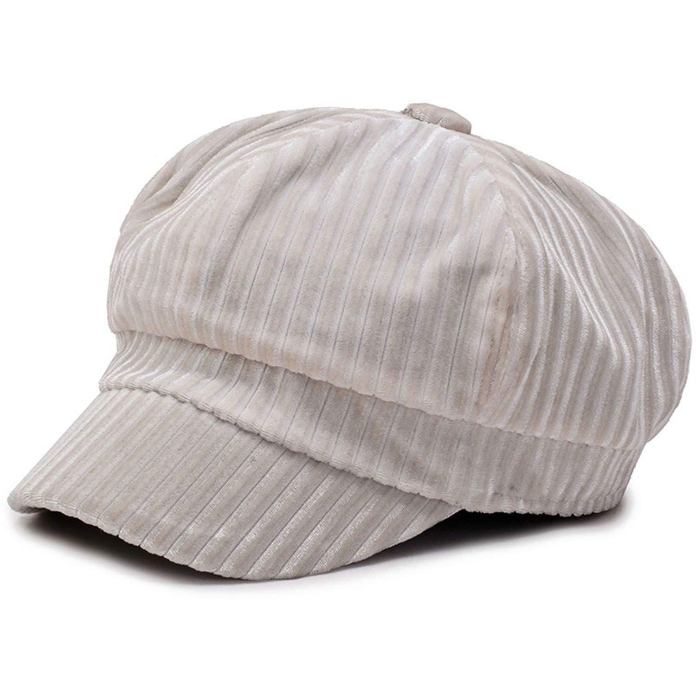 Pink Newsboy Caps Women Solid Casual Duckbill Hats Ivy Velvet British Autumn Spring Summer Baker Boy Cap
