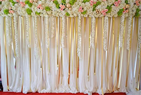 10x10FT Vinyl Photo Backdrops,Vintage,Flower on Lacework Aged Background for Graduation Prom Dance Decor Photo Booth Studio Prop Banner