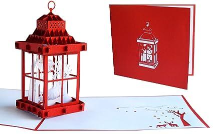 Lin 17537, Pop Up tarjeta de Navidad, Pop Up tarjeta de ...