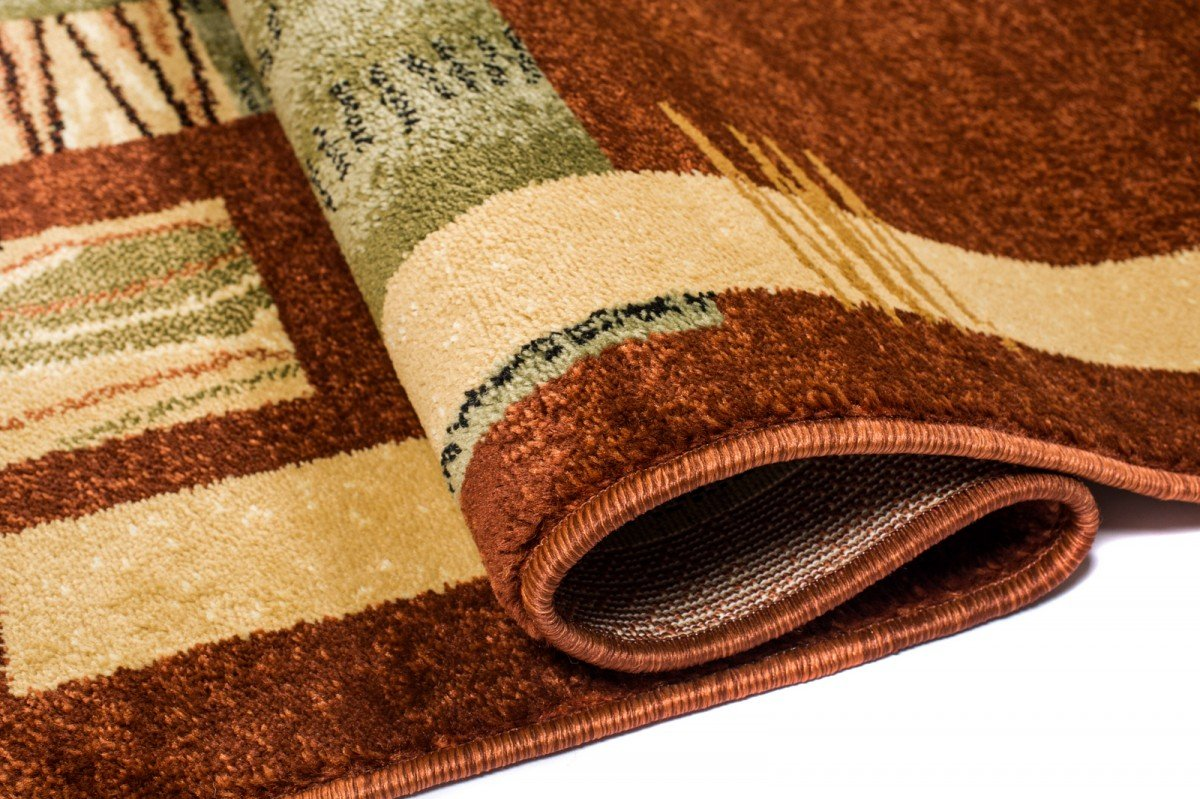 WE LOVE RUGS CARPETO Läufer Teppich Flur - Geometrisches Muster Muster Muster - Dicht Gewebt Teppichläufer - Läufer nach Maß - KIRTAN Kollektion - Braun - 120 x 450 cm ab63ce