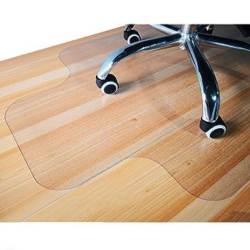 GIOVARA tapete transparente para silla con borde para suelos duros, 90 x 120 cm, alta resistencia al impacto, antideslizante, material no reciclable: ...