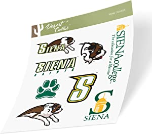 Siena College Saints NCAA Sticker Vinyl Decal Laptop Water Bottle Car Scrapbook (Type 2 Sheet)