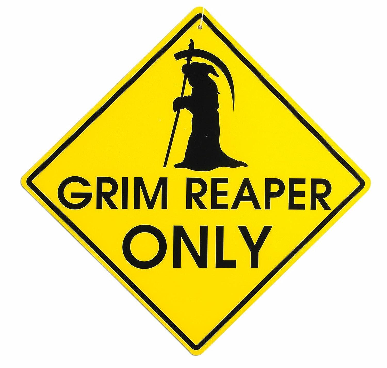 Forum Novelties Double Sided Grim Reaper Warning Sign 76956