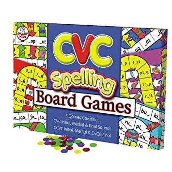 Amazon.com: Didax Educational Resources CVC Spelling Board Game ...