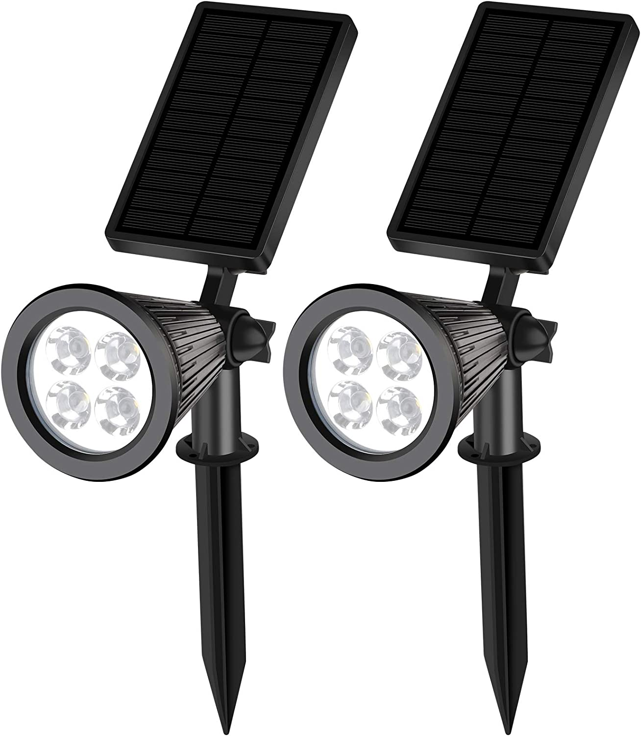 GOLDEN AUTUMN Solar spot Lights Outdoor, Two-in-one Wall lamp Decorative Lighting, The use of New Materials has greatly Improved The Service Life and Lighting time,2 Pack(Warm Light)