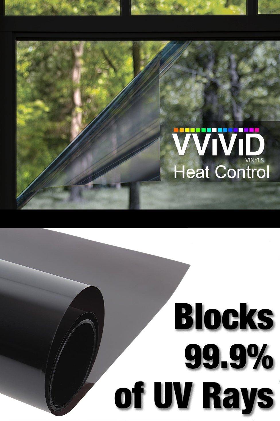 VViViD Heat Control 99% Anti UV Residential Vinyl Wrap Window Light Tint Roll (180 Inch x 60 Inch Large roll)