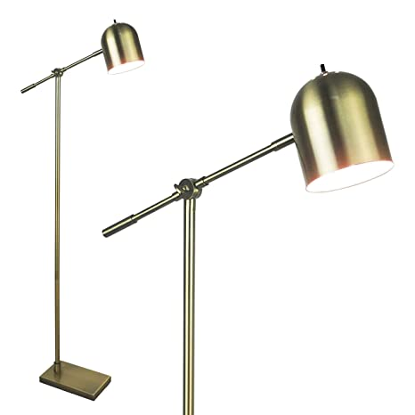 Floor Lamp For Reading By Lightaccents Adjustable Cantilever Modern Bright Standing Lamp Showroom Quality 59 Tall Brushed Gold Finish