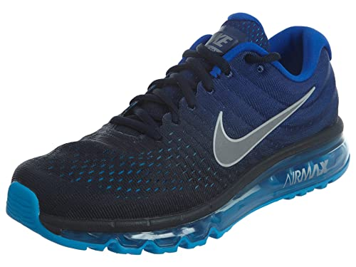 ae7e8e87ce Nike Mens Air Max 2017 Running Shoes Dark Obsidian/White/Royal Blue 849559- 400 Size 12: Buy Online at Low Prices in India - Amazon.in
