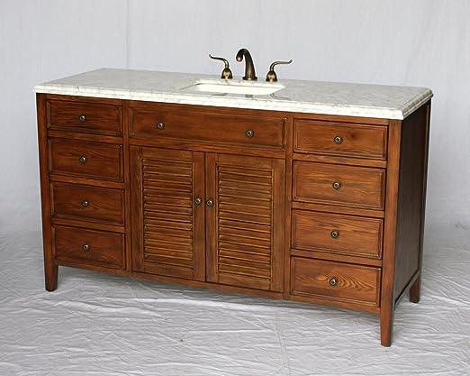 60 Inch Cottage Style Single Sink Bathroom Vanity Model 3328 60 Sa