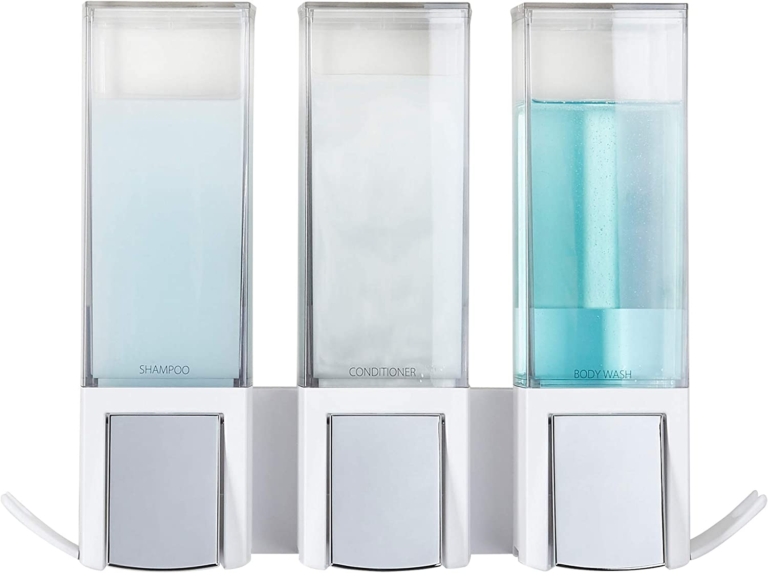 Better Living Products Clear Choice Dispenser 1 Pack Three Chamber Chrome