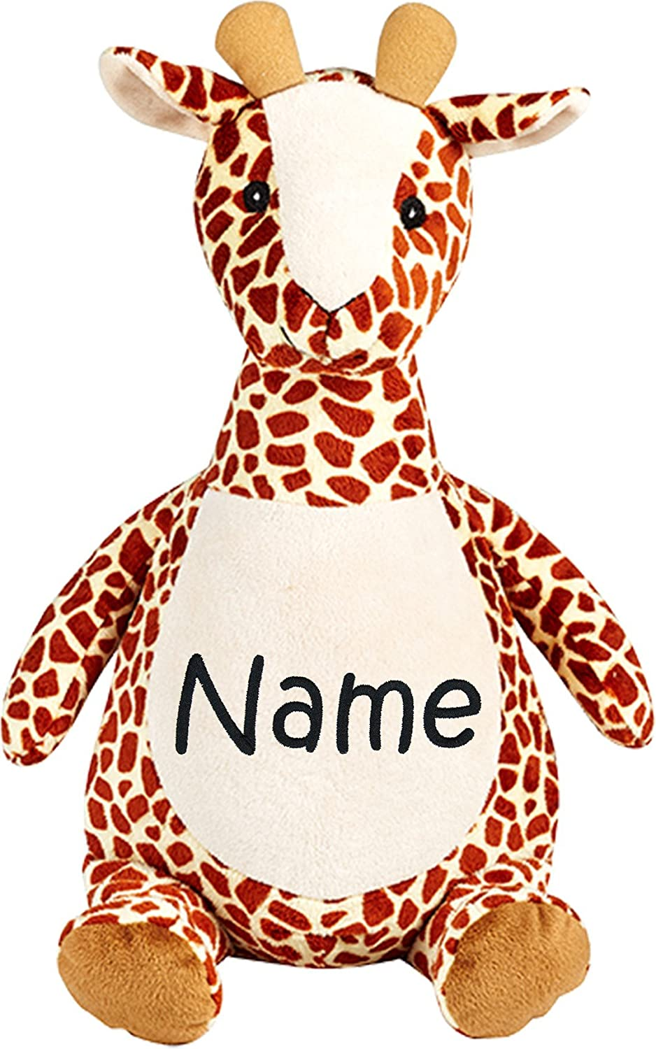Amazon Com Personalized Stuffed Giraffe With Embroidered Name Toys