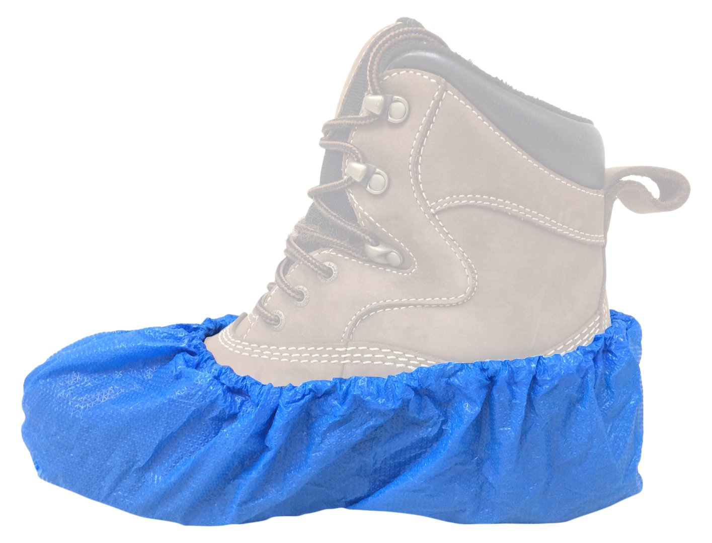 Zip-Up Products Skid Free Jobsite Shoe Covers - XL Disposable Slip-On Boot & Shoe Containment Sleeves - SC300XLB