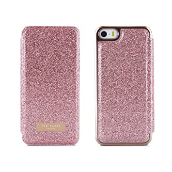 f3962cdce7e4ea Official Ted Baker Folio Style Case for Apple iPhone SE in Rose Gold with  Built in