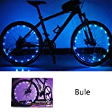 Bodyguard Bike Wheel Lights - Auto Open and Close - Ultra Bright 20 LED Bicycle Spoke Light,Colorful Bicycle Tire Accessories (1 pack) - Waterproof