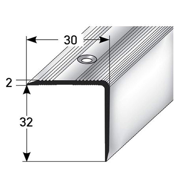 Perfil de borde de escalera perfil de pelda/ño de escalera de aluminio F/ácil instalaci/ón 100cm 32x30mm dorado acerto 38056 Perfil angular de escalera de aluminio Antideslizante Robusto