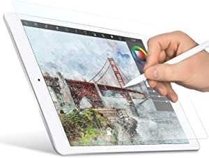 """ELECOM Paper-Feel Screen Protector Designed for Drawing, Anti-Glare Scratch-Resistant Bubble-Free, Compatible with 9.7"""" iPad 2018 (TB-A18RFLAPLL-W)"""