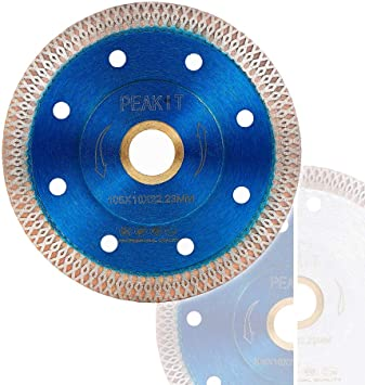 peakit tile cutter blade 4in porcelain diamond saw blade ceramic cutting disc wheel for angle grinder reversible color