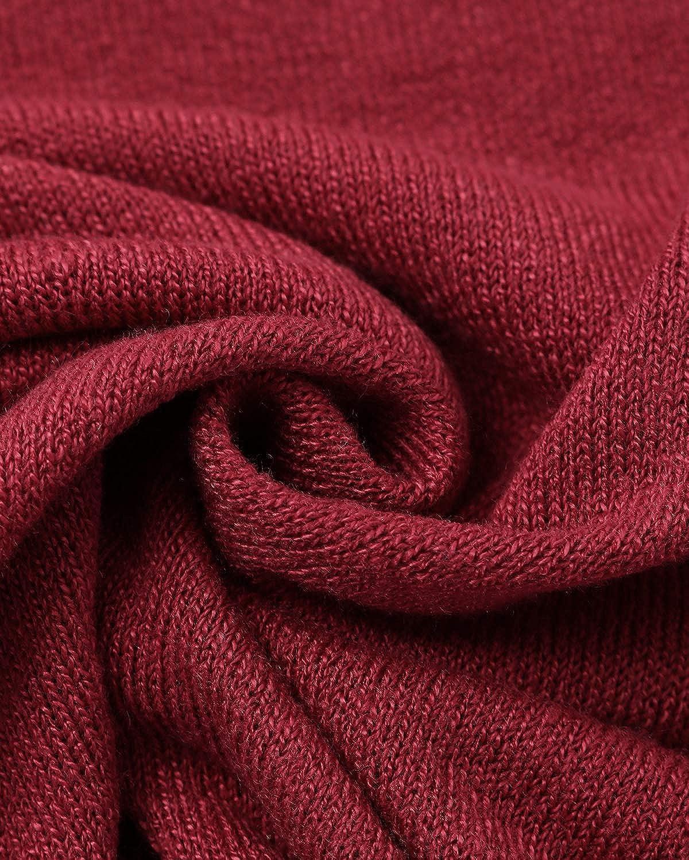 ACHIOOWA Donna Magliette Manica Lunga Maglie Collo V Nuovo Moda T-Shirt Bluse Elegante Casual Top Basic
