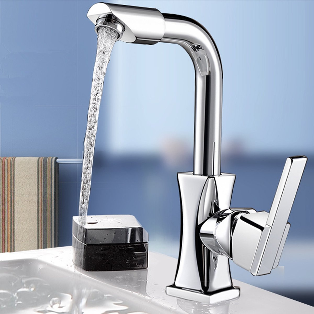 JINHUGU Flexible Chrom Messing Swivel Wash Wasser Auslauf Küchenspüle Einhebel Wasserhahn Mischbatterie Wasserhahn