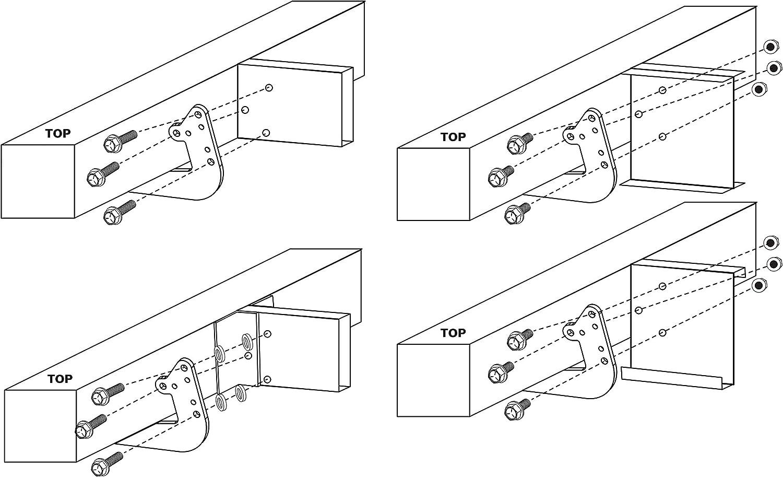 Quick Products QP-UBSBU Universal RV Bumper Support Bracket