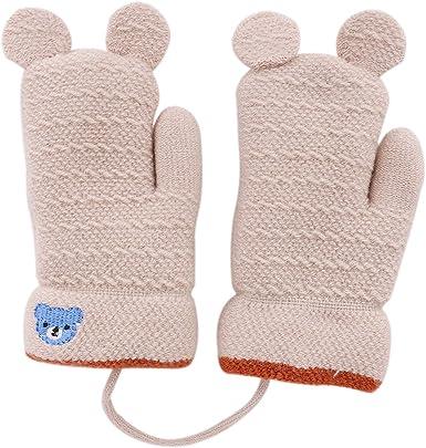 Kids Baby Boys Girls Winter Warm Gloves Knitted Wool Thicken Mittens Hand Warmer