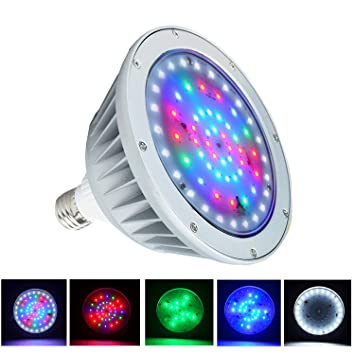 WYZM 12 V 35 W Cambio de color LED piscina luz bombilla, repuesto para Pentair 500 W y Hayward Fixture: Amazon.es: Jardín