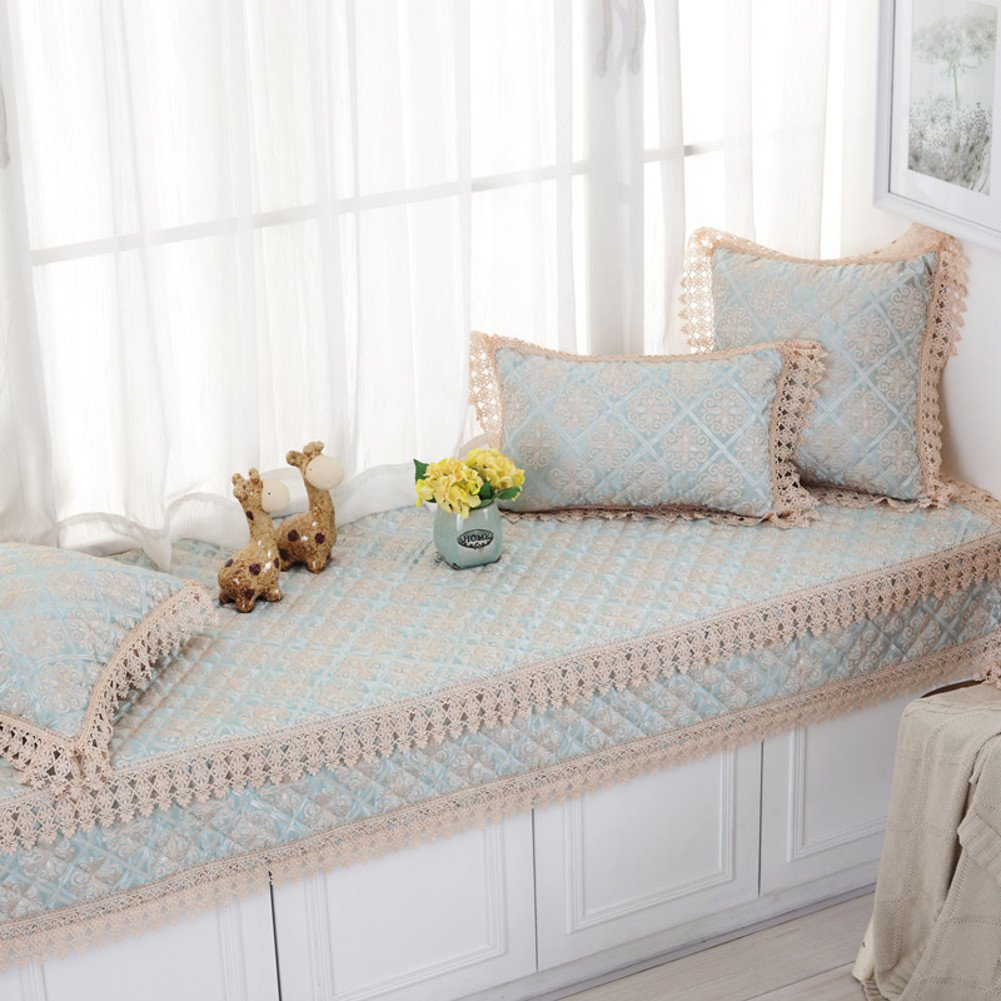 European-style bay window cushion/satin window mat/window seat/anti-slip thick tatami cushion-A 110x210cm(43x83inch)