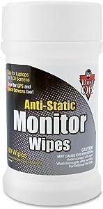 Dust-Off Premoistened Monitor Wipes