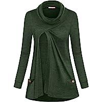 Green Maternity Breastfeeding Tunic  Minimalist Green Asymmetric Tunic  Soft Sweater Knit Tunic for Layering  Nursing Top  Clio Green