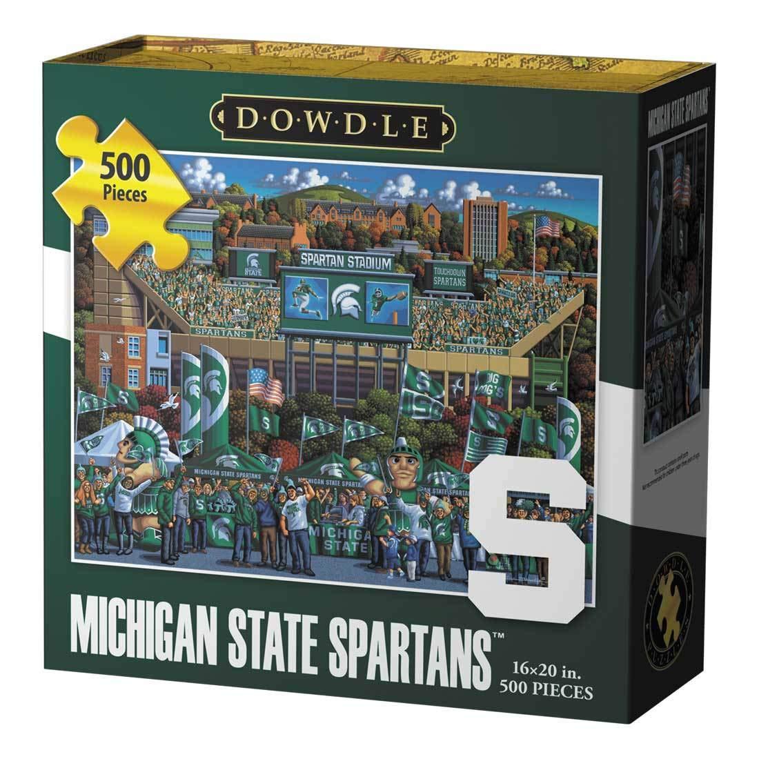 Michigan State Spartans 500 Piece Dowdle Folk Art SG/_B00OAI4T9Q/_US Dowdle Jigsaw Puzzle