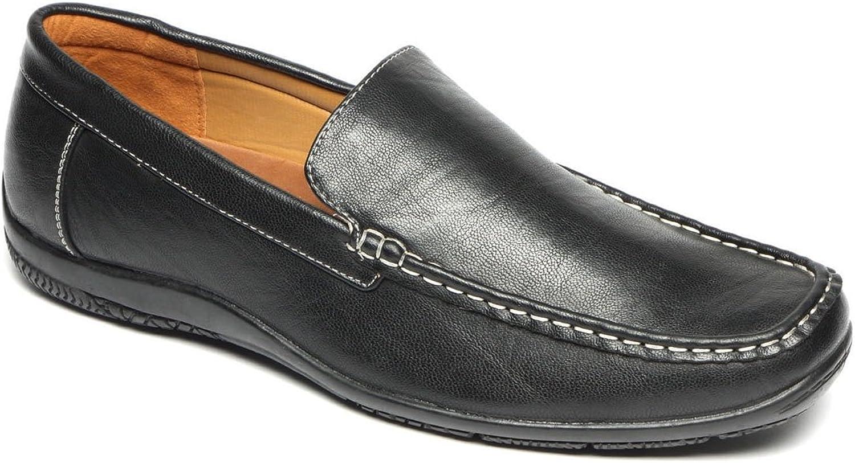 Mens Driving Loafer Slip On Driving Shoe Black 6 UK